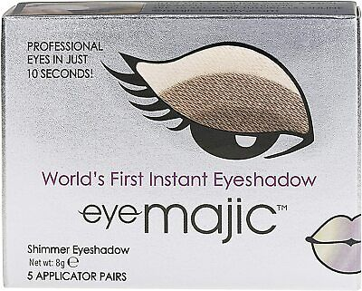 Eye Majic Instant Eyeshadow, 5 Pair Pack Easy Makeup In 10 Seconds - Cappuccino • 8.95£