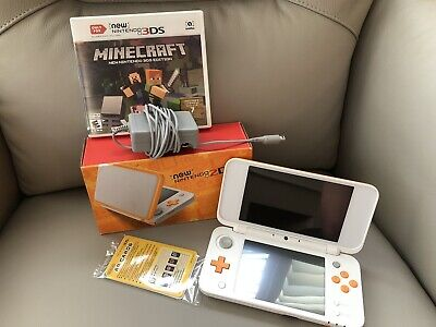 $ CDN200 • Buy Like New NINTENDO 2DS XL Console White Orange  * DS 3DS With Minecraft 3DS Game