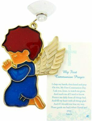 Boy Angel Suncatcher First Communion Gift Set With Holy Card Boxed • 11.41£