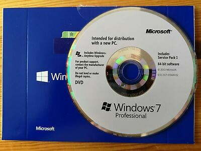 Genuine Windows 7 Professional 64bit Pro With SP1 DVD Only (No Product Key) • 20.01£