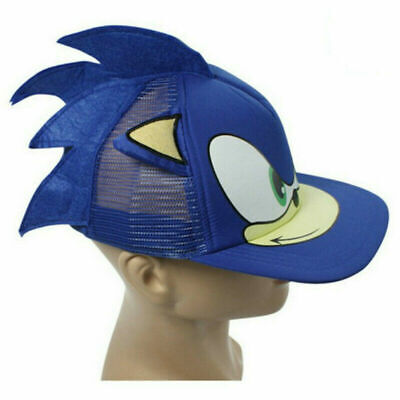 Sonic The Hedgehog Cartoon Youth Adjustable Baseball Hat Cap Blue Gifts Toy UK • 9.99£