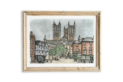 £10 • Buy Lincoln Cathedral Watercolour Painting- Art Print Of An Original Painting, A4