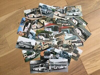 Collection Of Various National Express Liveried Coach Photographs Vgc • 12£