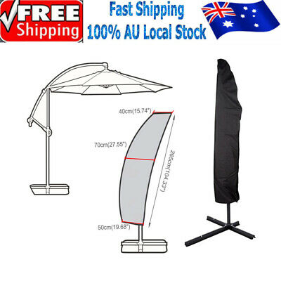 AU16.69 • Buy Patio Cantilever Umbrella Cover Garden Parasol Sun/Rain/Dust Protection Outdoor