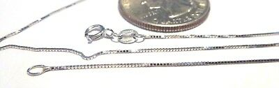 $88 • Buy 14Kt White Gold 20 Inch .6MM BOX Chain W/Gift Box ..GAURANTEED....FREE SHIPPING!