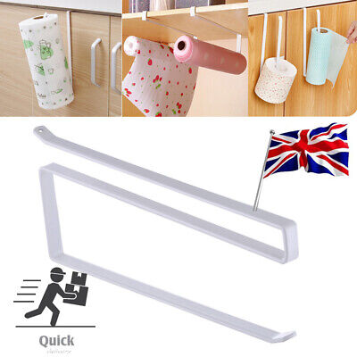 1PC Roll Under Shelf Roll Holder Kitchen Cabinet Paper Towel No Punching • 3.99£
