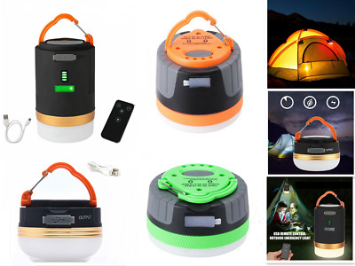 Rechargeable LED Camping Light Tent Portable Lantern Night Lamp Phone Charger • 9.40£