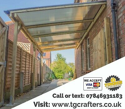 £1 • Buy High Quality Bespoke Timber Carport Bespoke Lean-to Roof SUPPLY & INSTALLATION
