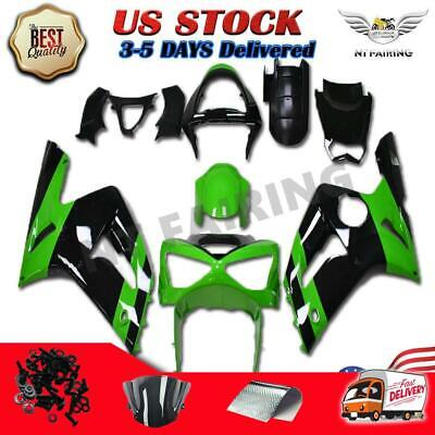$399.99 • Buy MSB Fit For Kawasaki 2003 2004 ZX6R 636 ABS Green Black Injection Fairing S007