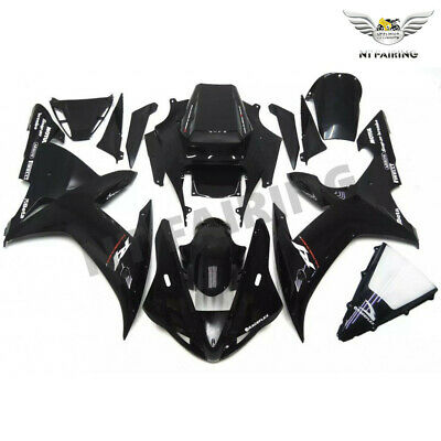 $549.99 • Buy MS Fit For Yamaha R1 YZF 2002-2003 Glossy Black Injection ABS Fairing Kits K048