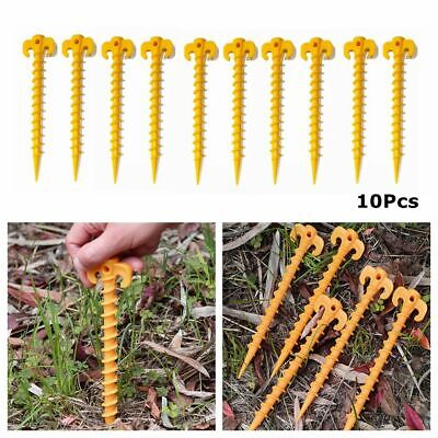 £6.69 • Buy Plastic 10Pcs Stakes Support Ground Screw Pegs Nails Shelter Anchor Tent Tool