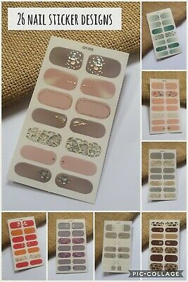 AU2.65 • Buy Nail Stickers Nail Wrap Self Adhesive Full Cover Nail Art 3D Sparkle 14pc