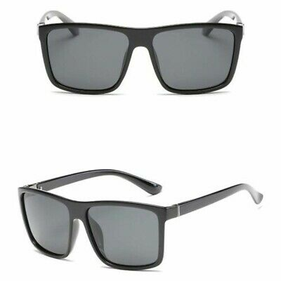 AU11.79 • Buy Pack-2 Flat Top Large Square Frame Vintage Big Oversized Sunglasses Mens Womens