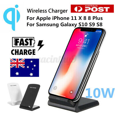 AU17.98 • Buy Wireless Charger Qi Fast Charging Stand Dock Station For IPhone 11 Pro XR X 8 SE