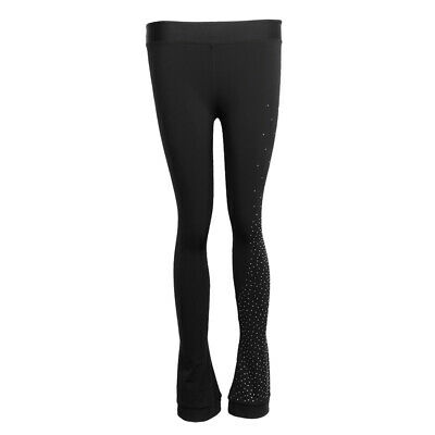 Ice Figure Skating Dress Pants Training Leggings Black Girls Tights Suit • 23.15£