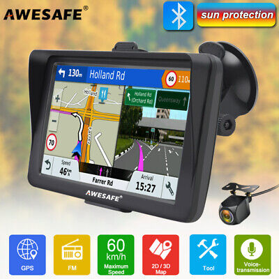 AU92.99 • Buy 7 AWESAFE A2 GPS Navigator Sat Nav With Sunshade Bluetooth+Reverse Camera