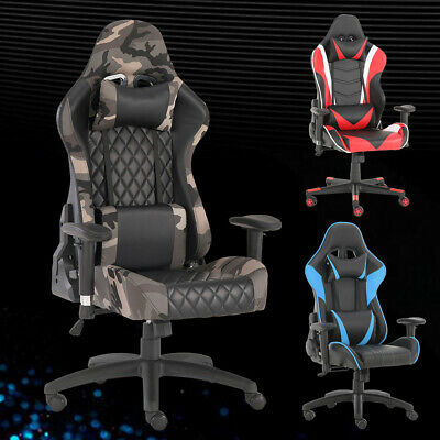 $122.99 • Buy Computer Gaming Chair High-back Chairs Executive Swivel Racing Office Furniture