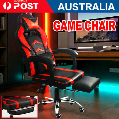 AU151.90 • Buy 1x RED Gaming Chair Office Computer Leather Chairs Racer Executive Racing Seat