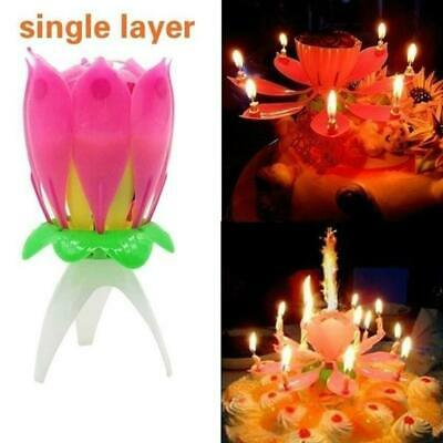 $ CDN8.64 • Buy ROTATING Lotus Candle Birthday Flower Musical Floral Cake Candles& Music Magic