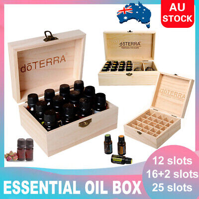 AU13.39 • Buy  Essential Oil Storage Box Wooden 12-85 Slots Aromatherapy Organizer / Oil Set