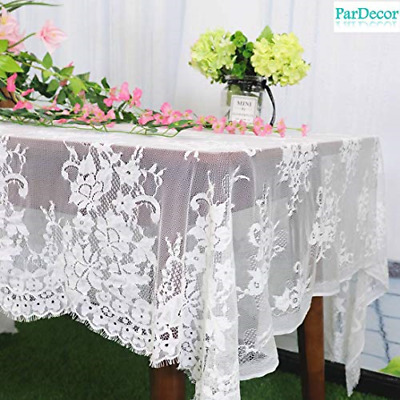 $34.96 • Buy Lace-Tablecloth-Rectangular 60x120-Inch Vintage Table Cloth Rectangle Lace We...