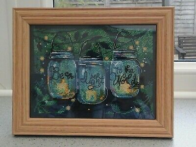 Dimensions Be A Light To The World Finished Cross Stitch Piece 7 X5  • 14£