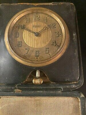 AU383.02 • Buy Vintage Octava 8 Day Travel Watch, Clock With Leather Case