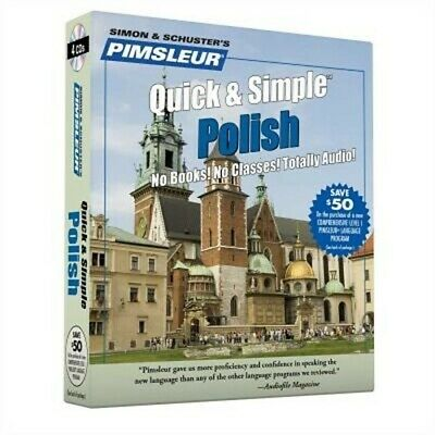 £11.65 • Buy Pimsleur Polish Quick & Simple Course - Level 1 Lessons 1-8 CD: Learn To Speak A