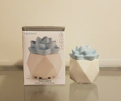 AU38.24 • Buy Sparoom Succulent Ceramic Blue Flower Essential Oil Diffuser NEW
