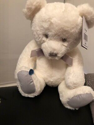 Mamas And Papas White Teddy Bear Soft Toy New Beautiful • 13.49£
