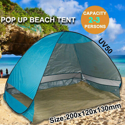 AU24.99 • Buy Pop Up Camping Tent Beach Portable Hiking Sun Shade Shelter Fishing 4 Person