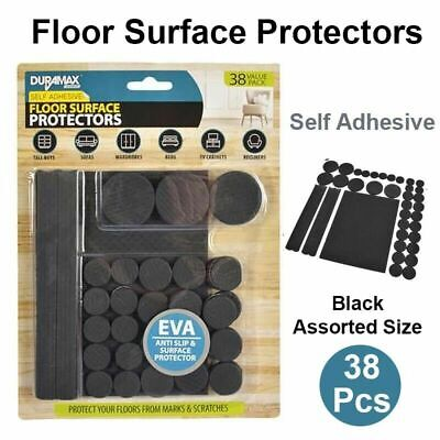 AU5.89 • Buy Rubber Pad Furniture Floor Protector Pads Self Adhesive Balck Assorted Size