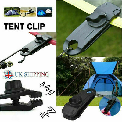 1-20X Reusable Tent Tarp Tarpaulin Clip Clamp Buckle Camping Tool Heavy Duty UK • 5.99£