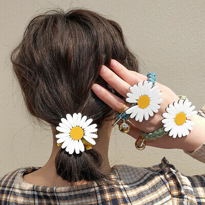 $ CDN3.26 • Buy Girl Daisy Flower Elastic Rubber Band Hair Rope Ponytail Hair Accessories