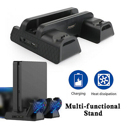AU47.99 • Buy 2in1 Controller Charge Dock Station Cooling Fan Vertical Stand Fit For PS4 Pro S