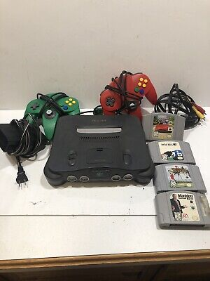 $ CDN200.73 • Buy Nintendo 64 N64 System Console  Bundle  Cables 2 Controllers 4 Games Tested