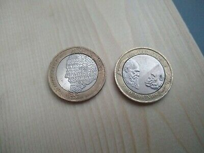 £100 • Buy Rare Charles Dickens 2 Pound Coin And Charles Darwin £2 Pound Coin