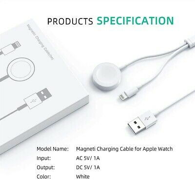 $ CDN11.89 • Buy For Apple Watch IWatch 6/5/4/3/2/1 IPhone 8 X XS Magnetic Charger 2in1 USB Cable