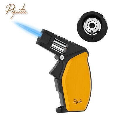 PIPITA Metal Windproof Singel Torch Jet Flame Butane Refillable Cigar Lighter  • 15.63£