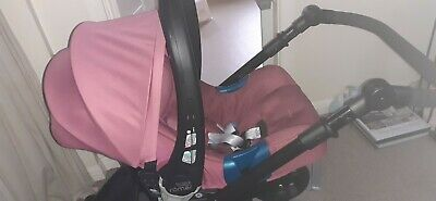 Purple Britax B Dual Pushchair With Dusky Pink Carseat Excellent Condition  • 120£