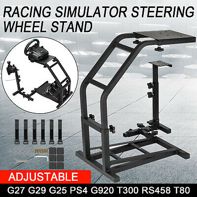 Racing Simulator Steering Wheel Cockpit Stand For Logitech G27 G29 G25 PS4 G920 • 40.50£