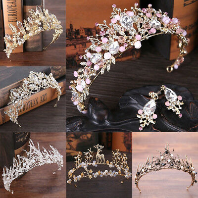 $ CDN2.82 • Buy Wedding Bridal Crown Headdress Flower Crystal Hair Accessories Bridal Tiara UK
