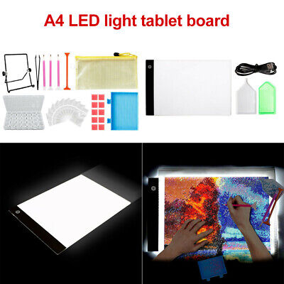 AU23.79 • Buy 5D Diamond Painting Embroidery Accessories A4 Lamp LED Pad Light Board Drawing