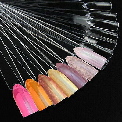 False Nail Polished Sticks Tips Colour Nails Practice Pop Display Chart W/ Ring • 2.99£