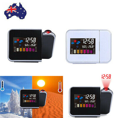 AU19.99 • Buy Smart Digital LED Projection Alarm Clock Time Temperature Projector LCD Display