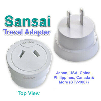 AU14.69 • Buy Sansai Travel Adaptor For Japan, USA, China, Philippines, Canada (STV-1007)