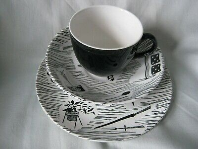 Ridgway Homemaker Trio Cup Saucer & Plate Woolworths 1950s/1960s Vintage Pottery • 11.59£