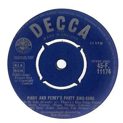 Pinky & Perky - Pinky And Perky's Party Sing-Song - 7  Vinyl Record • 4.49£