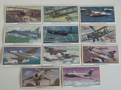 'A History Of British Military Aircraft', Issued From Kellogg, Cards X 11 • 1.49£