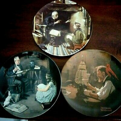 $ CDN14.50 • Buy Norman Rockwell's Heritage Collection, Lot Of 3 Ltd Ed Collector Plates, Knowles